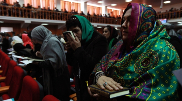 Parliamentarians sworn in to the Lower House of Parliament (Wolesi Jirga). Women make up 69 of the 249 candidates elected on 18 September 2011.