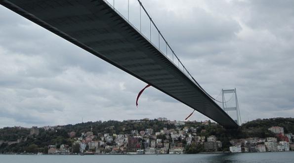 Istanbul, Bosporus Bridge.