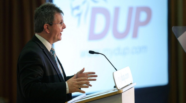 Lagan Valley MP Jeffrey Donaldson addresses the Democratic Unionist Party's Spring Conference 2013.