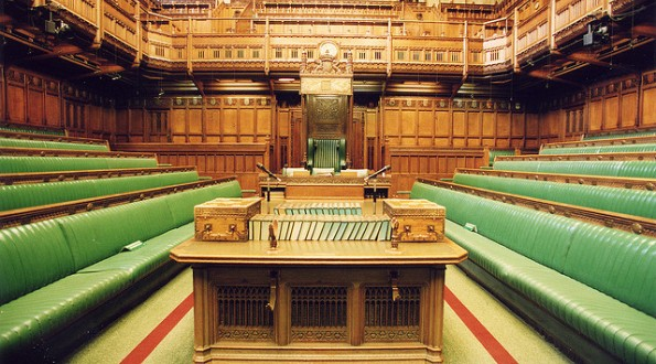 House of Commons Chamber: Speaker's table.