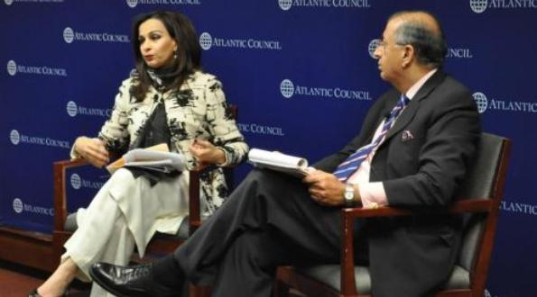 Her Excellency Sherry Rehman, Pakistan's Ambassador to the United States, visited the South Asia Center on February 26 to discuss moving forward in the US-Pakistan relationship.