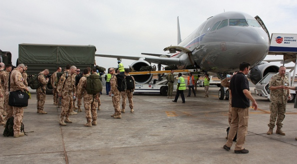 Arrival of the Czech Contingent in Mali, 2013.