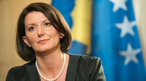 President Jahjaga of Kosovo