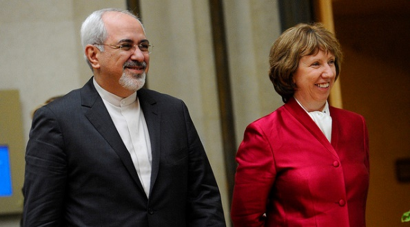 EU High Representative Catherine Ashton and Iran Foreign Minister Javad Zarif