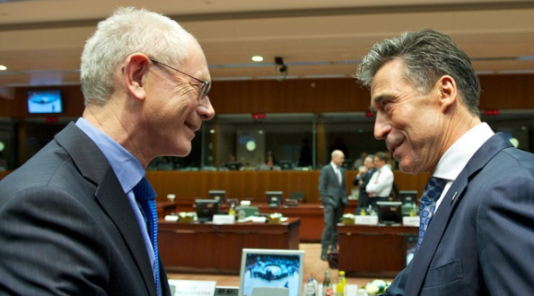 European Council, Dec. 2013: Mr Herman VAN ROMPUY, President of the European Council and Mr Anders Fogh RASMUSSEN, Secretary General of NATO.