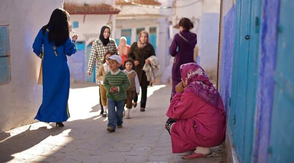Women in Chefchaouen, Morocco