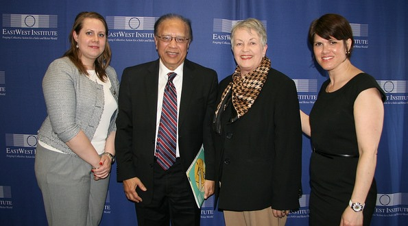 Agnes Venema, Ambassador Anwarul Chowdhury, Senator Nan Orrock, Tanya Henderson