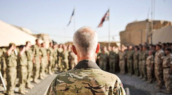 Army Chaplain Conducts Memorial Service in Helmand, Afghanistan.