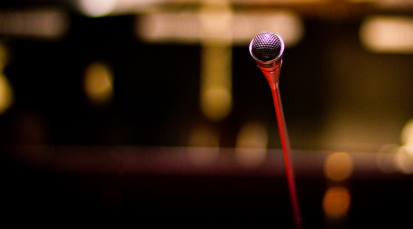 Microphone in South African's Constitutional Court