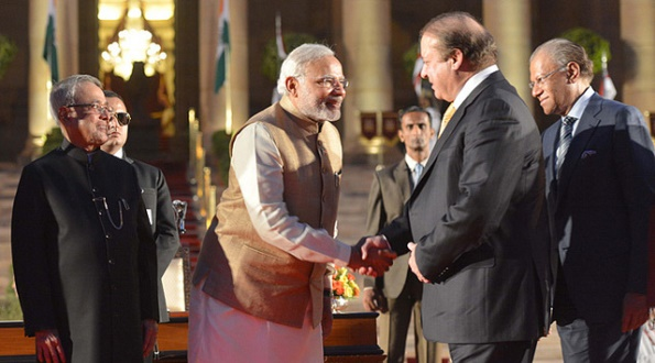 Indian Prime Minister Narendra Modi and Pakistan Prime Minister Nawaz Sharif, May 2014.